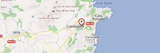 Carte Capdepera - Majorque