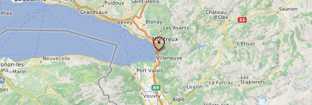 Carte Château de Chillon - Suisse