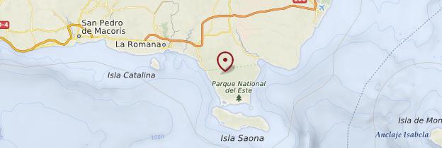 Carte Parque nacional del Este - République dominicaine