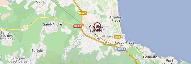 Carte Argelès-sur-Mer - Languedoc-Roussillon
