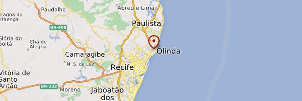 Carte Olinda - Brésil