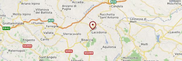 Carte Lacedonia - Italie
