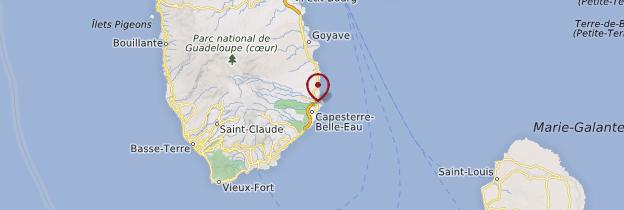 Carte Capesterre-Belle-Eau - Guadeloupe