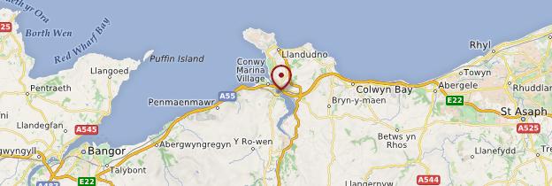 Carte Conwy - Pays de Galles