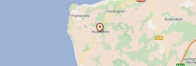 Carte Audinghen - Nord-Pas-de-Calais