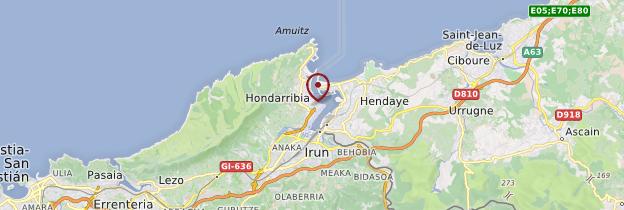 Carte Hondarribia (Fontarrabie) - Espagne