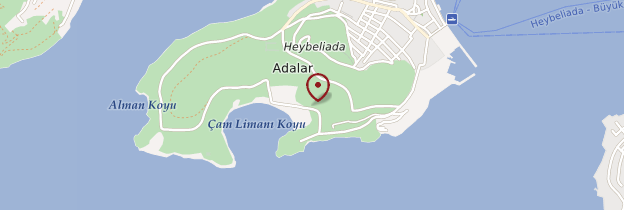 Carte Île Heybeli Ada - Istanbul