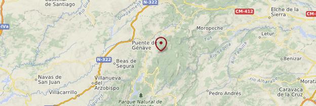 Carte Segura de la Sierra - Andalousie