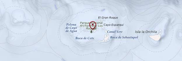 Carte Archipel de Los Roques - Venezuela