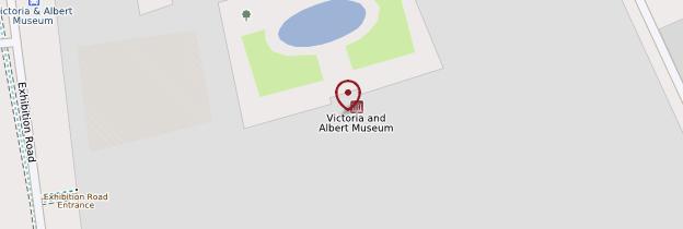 Carte Victoria and Albert Museum - Londres