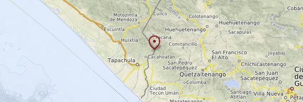 Carte Lagunes de Montebello - Mexique