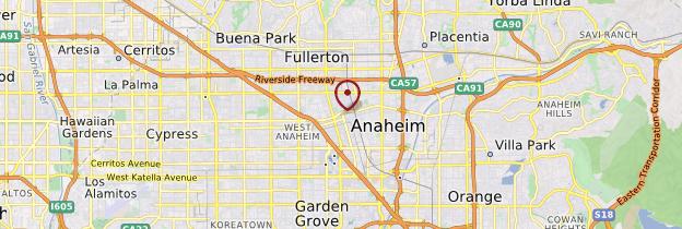 Carte Anaheim - Los Angeles