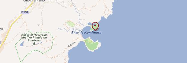 Carte Plage de Rondinara - Corse
