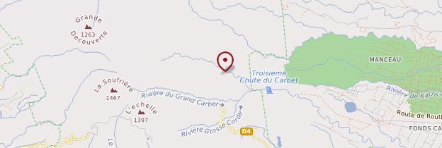 Carte Chutes du Carbet - Guadeloupe