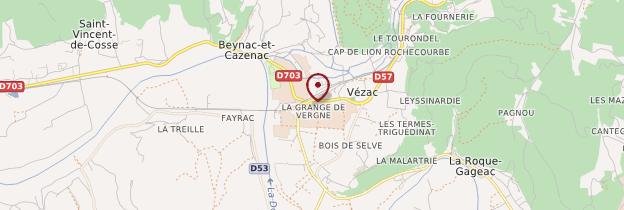 Carte Vézac - Périgord - Dordogne