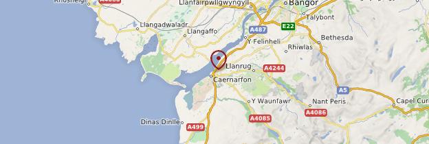 Carte Caernarfon - Pays de Galles