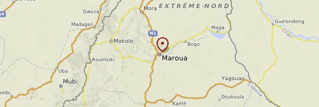 Carte Maroua - Cameroun