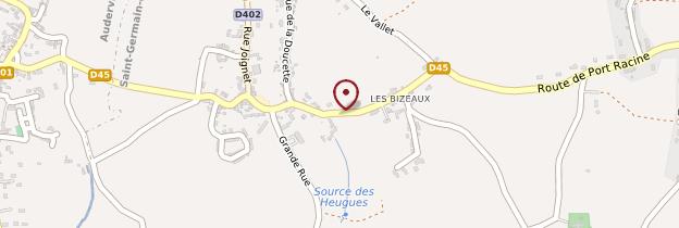 Carte Port-Racine - Normandie