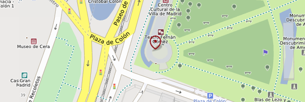 Carte Plaza de Colón - Madrid