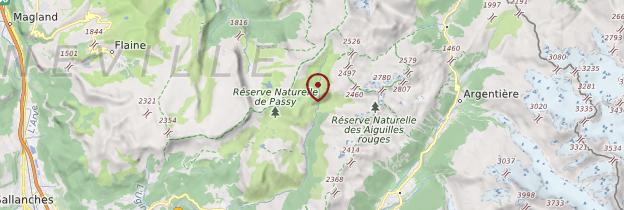 Carte Pays du Mont-Blanc - Alpes