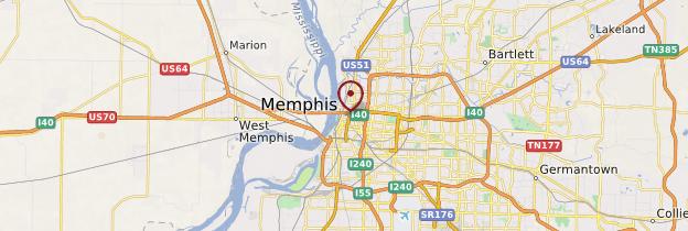 Carte Memphis - États-Unis