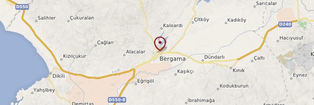 Carte Pergame (Bergama) - Turquie