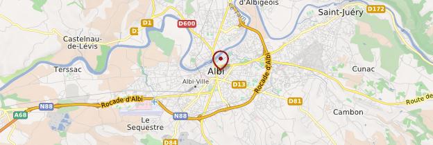 Carte Albi - Midi toulousain - Occitanie