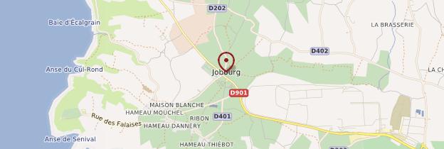 Carte Jobourg - Normandie