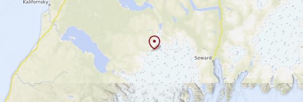 Carte Péninsule de Kenaï - Alaska