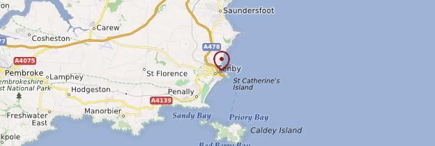 Carte Tenby (Dinbych-y-Pysgod) - Pays de Galles