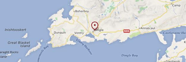 Carte Dingle (An Daingean) - Irlande