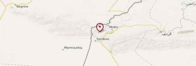 Carte Midès - Tunisie