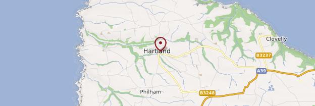 Carte Hartland - Angleterre