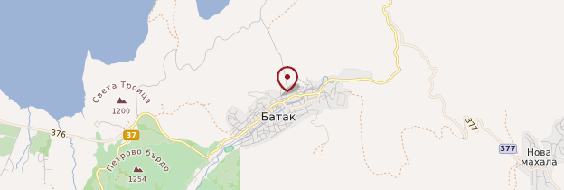Carte Batak - Bulgarie