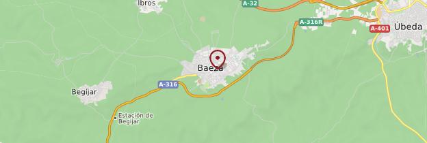 Carte Baeza - Andalousie
