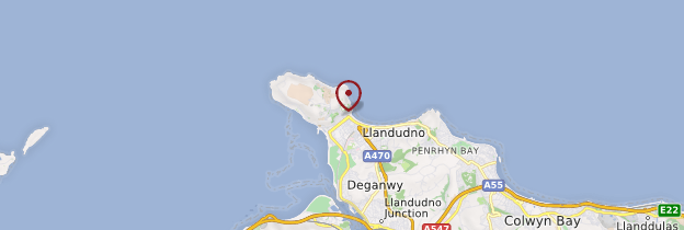Carte Llandudno - Pays de Galles