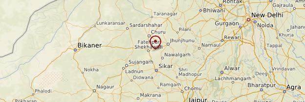 Carte Shekhawati - Rajasthan