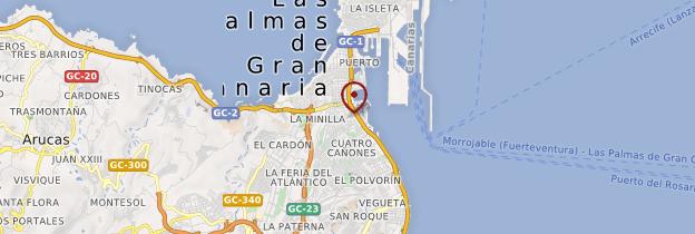Carte Las Palmas - Canaries