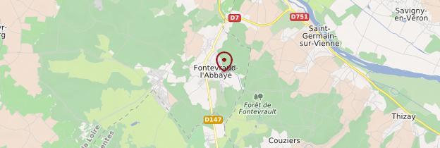 Carte Abbaye royale de Fontevraud - Pays de la Loire