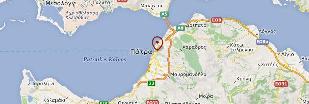 Carte Patras - Grèce
