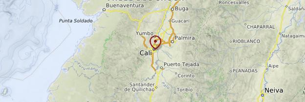 Carte Santiago de Cali (Cali) - Colombie