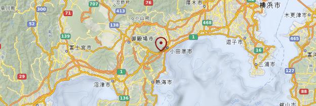 Carte Hakone - Japon