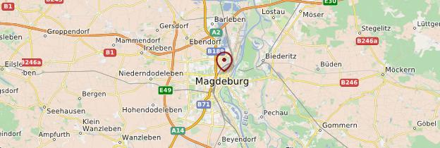 Carte Magdeburg (Magdebourg) - Allemagne