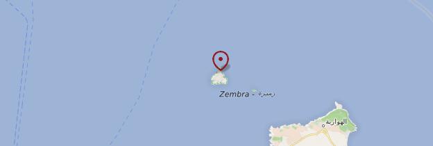 Carte Ile de Zembra - Tunisie