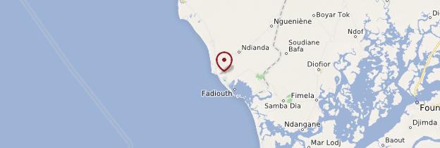 Carte Joal-Fadiouth - Sénégal