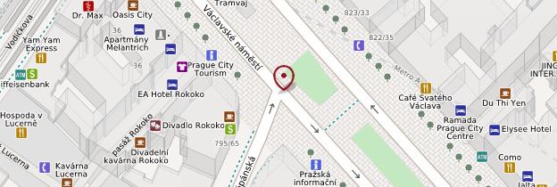 Carte Václavské náměstí (Place Venceslas) - Prague
