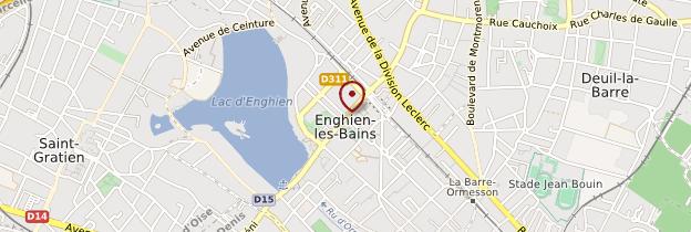 Carte Enghien-les-Bains - Île-de-France