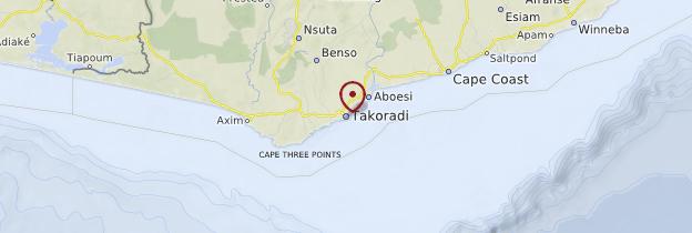 Carte Takoradi - Ghana