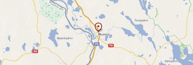 Carte Muonio - Finlande