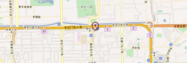 Carte Temple des Lamas - Pékin (Beijing)